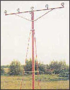 Fiberglass Frangible Approach Mast