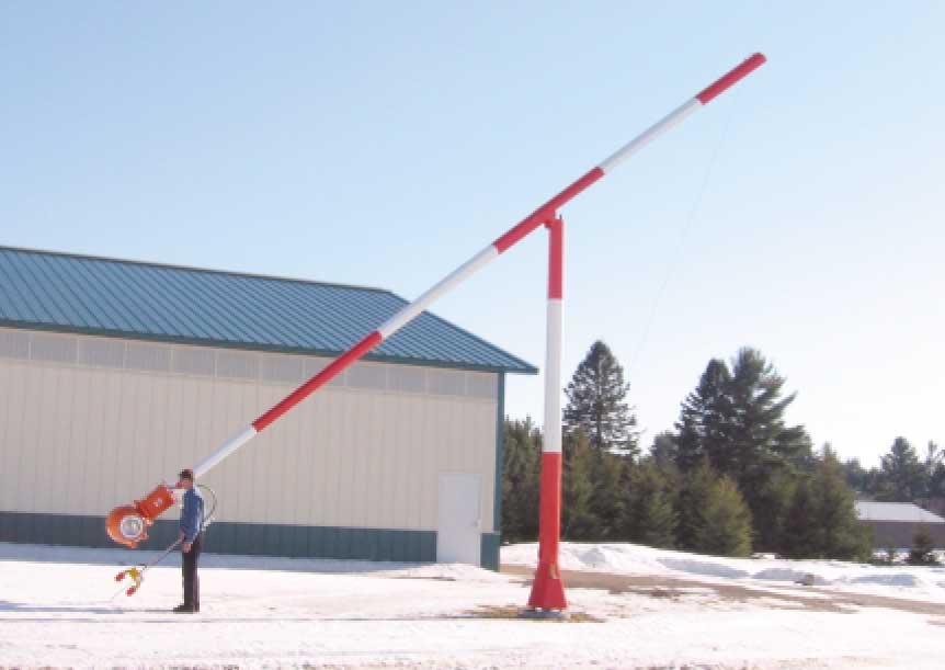 beacon tipdown pole