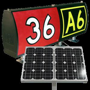 solar LED taxiway runway signs L858