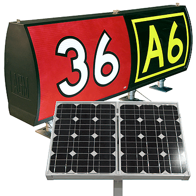 AGM Solar LED Taxiway and Runway Signs | FAA L-858 Types Y, L, R & B