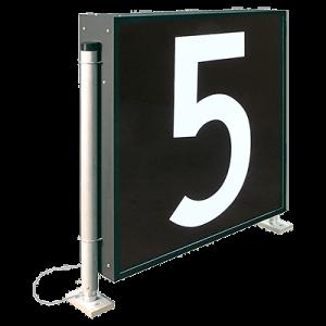 i LUX LED Size 4 number sign
