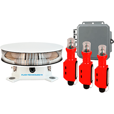 L-864 Red Medium Intensity LED Aviation Obstruction Lighting Systems | FTS 371, FTS 371S, FTS 361x-4
