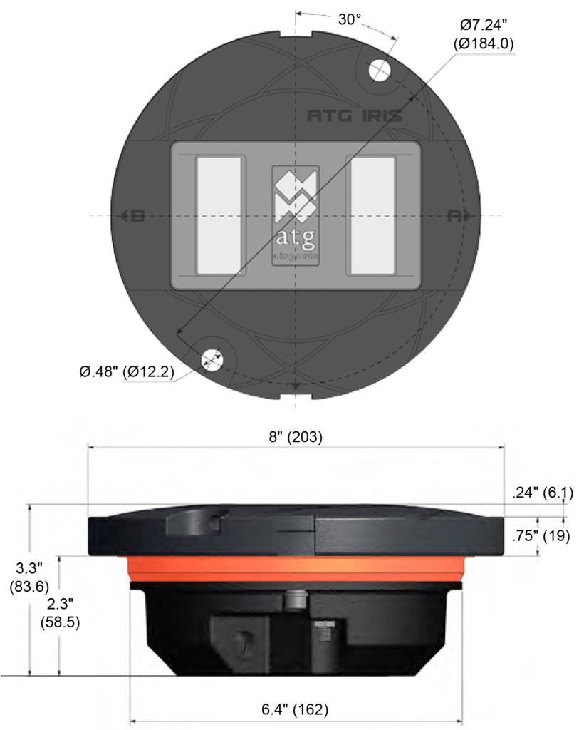 IR852A dimensions