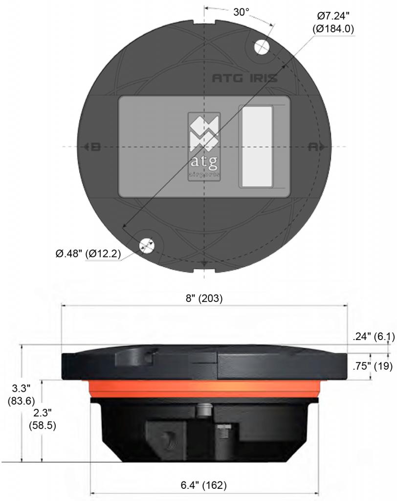 IR850B dimensions
