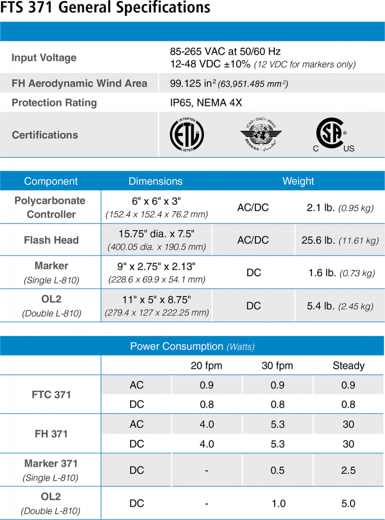 FTS-371 specifications