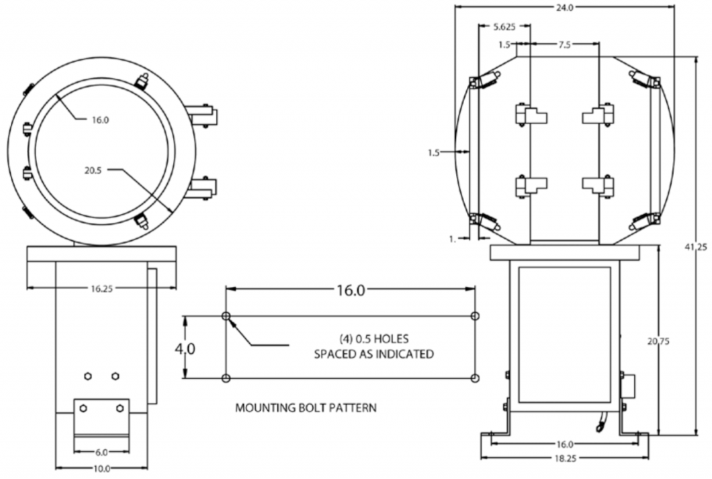 HBM 400PS L802A Airport Rotating Beacon diagram