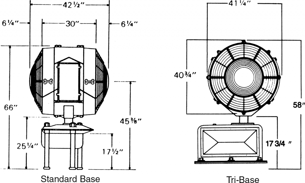 36 inch Refurbished Airport Rotating Beacon drawings