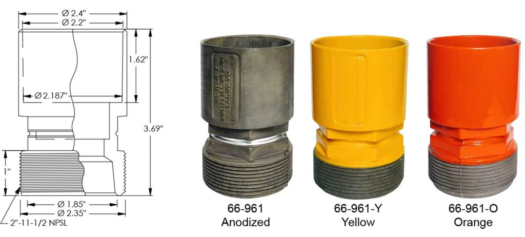 66-961 frangible coupling