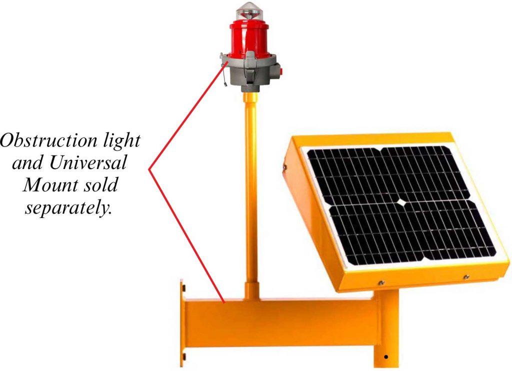 Obstruction Light Solar Power System