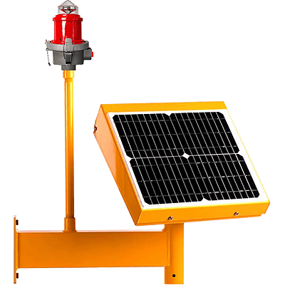 Obstruction Light Solar Power System