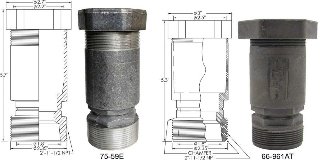 75-59E, 66-961AT frangible couplings
