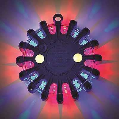 powerflare LED color red blue
