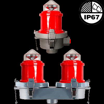 L-810 LED Steady-Burning Red Obstruction Light