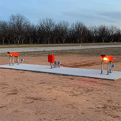 AV-PAPI LED Precision Approach Path Indicator installation