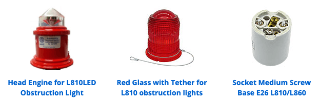 obstruction lighting replacement parts
