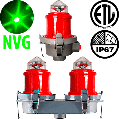 L-810 LED Night Vision Compatible Steady-Burning Red Obstruction Light