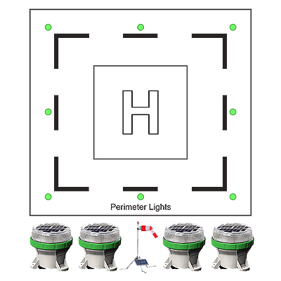 Portable Heliport Lighting System HL-PHLS OL4 Fixture