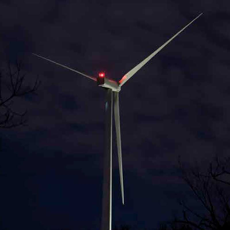 Wind Turbine Obstruction Light