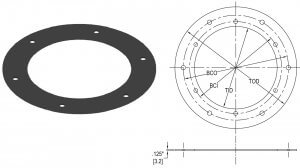 Neoprene Gasket for Base Cans