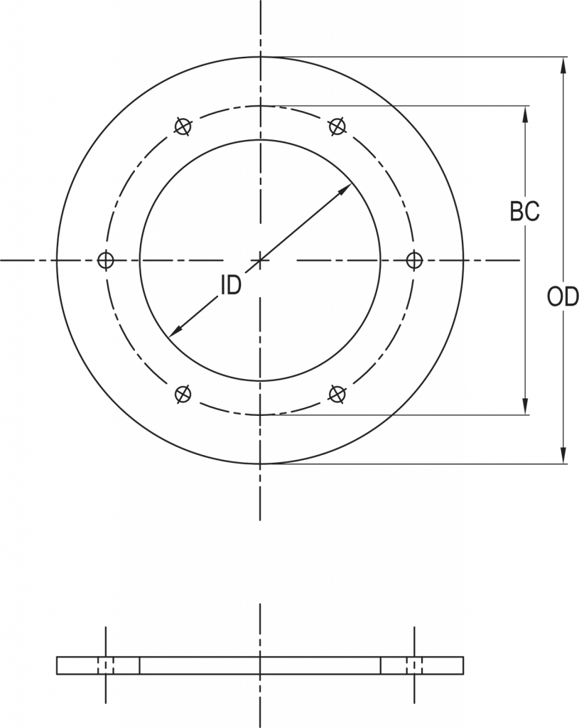 L-867 Class 1A Spacer Ring dimensions