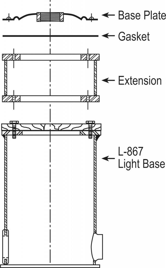 L-867 Class 1A Light Base layout