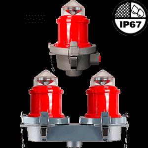 L-810 LED Steady Burning Red Obstruction Light