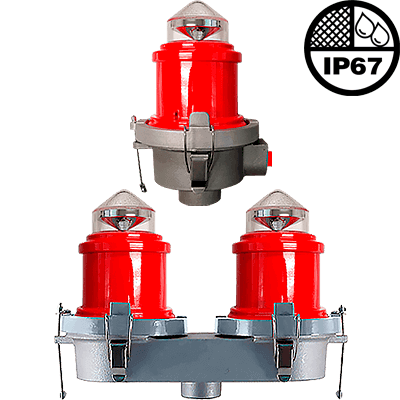 L-810 LED Steady Burning Red Obstruction Light