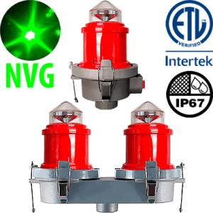 L-810 LED Night Vision Compatible Red Obstruction Light