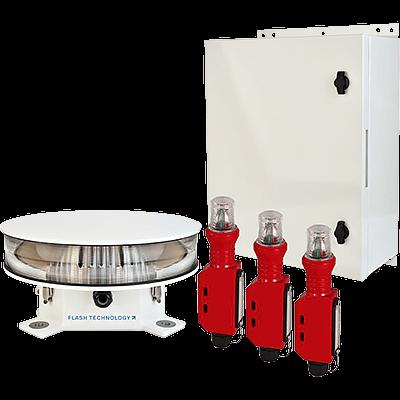 L-864 / L-865 Dual Red/White Medium Intensity LED Flashing Obstruction Lighting System | FTS 370d Vanguard